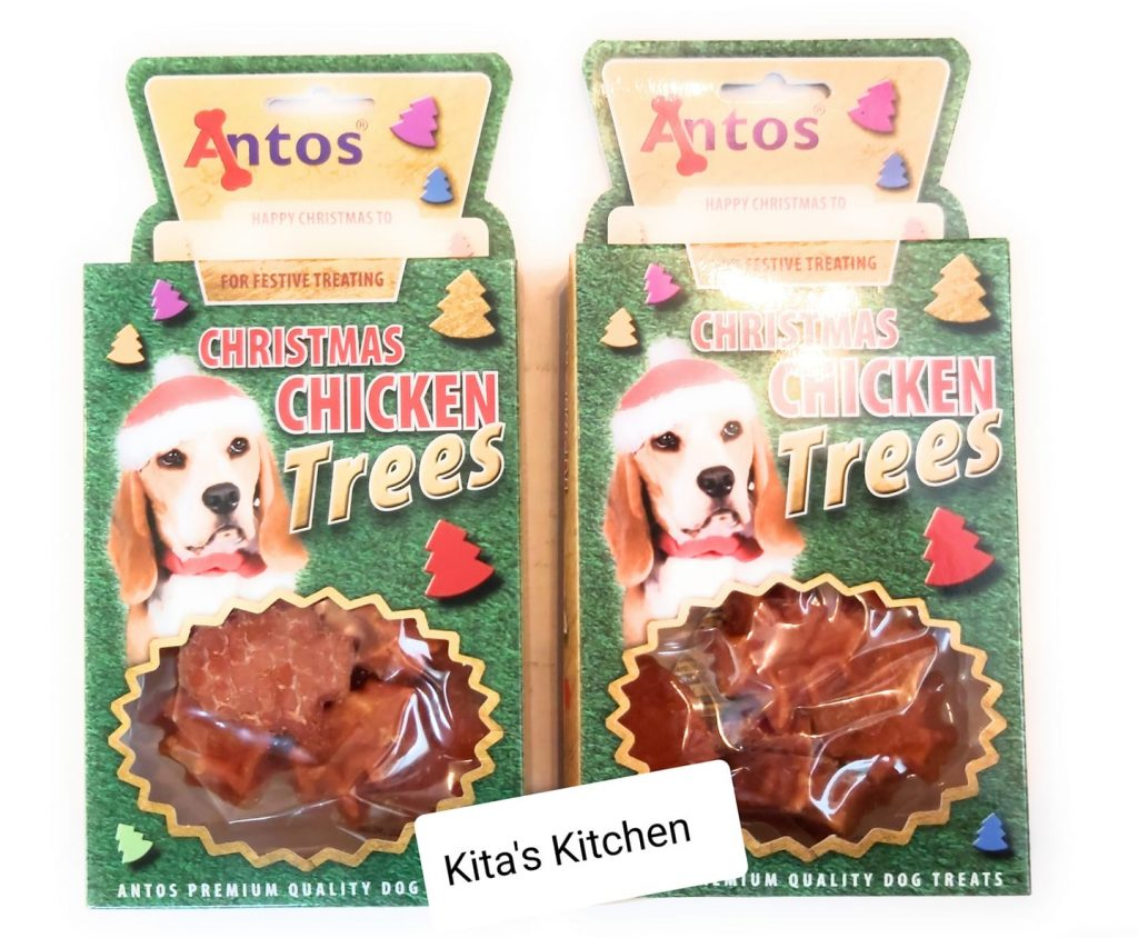 Christmas Chicken Trees Treats for Dogs 2 x 100g packets