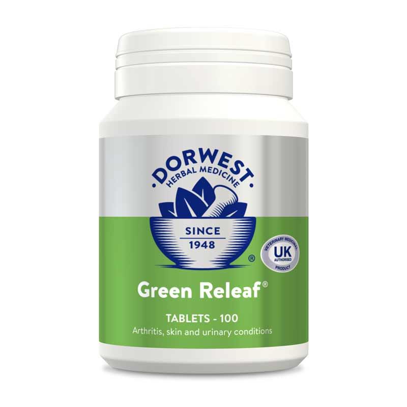 Dorwest Green Releaf Tablets for Dogs & Cats