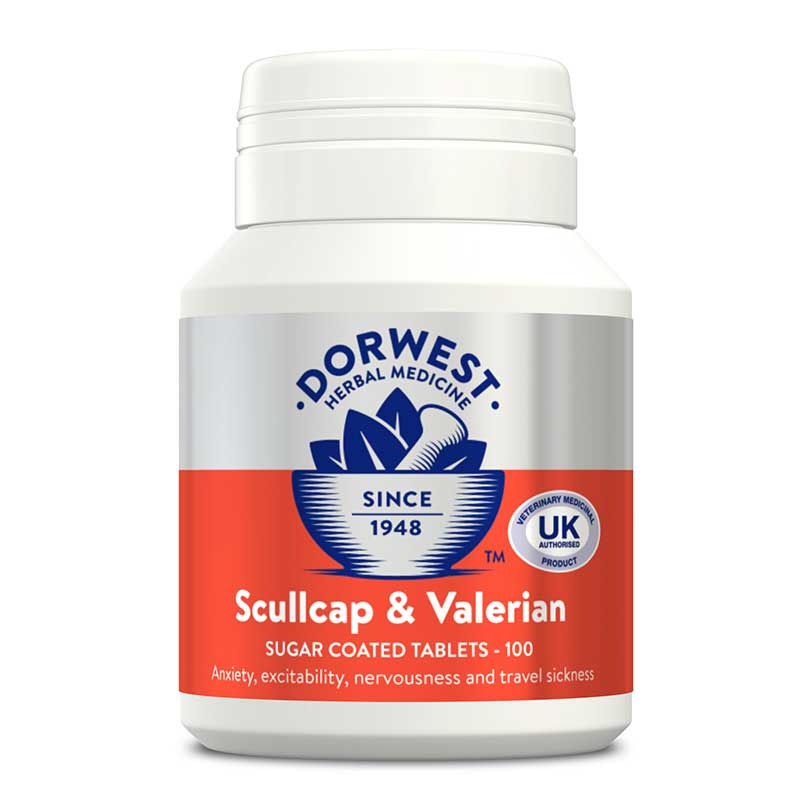 Dorwest Scullcap & Valerian Tablets for Dogs & Cats